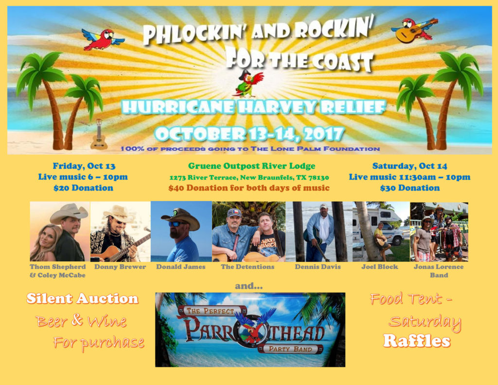 New Braunfels, TX - Phlockin' & Rockin' for the Coast @ Gruene Outpost River Lodge | New Braunfels | Texas | United States